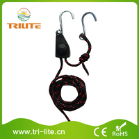 Completely rust/cold/heat resistant adjustable grow light rope ratchet