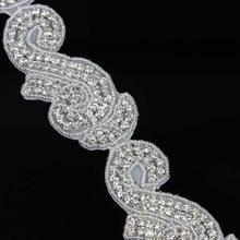 New Handmade Bridal Rhinestone Bead Applique Designs R2726F01