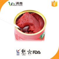 Double Concentrated New Crop Canned Tomato Paste Brix 28-30% 2.2kg*6tin With Seasoning Cube Free Packing