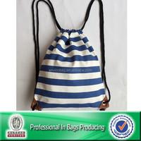 Lead-free Blue Heavy Cotton Cinch Bag