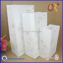 Custom Printed bread packaging paper bag for bread food packaging