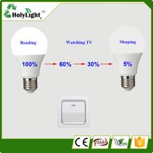 Free sample!2014 hot selling 5W 7W 9W LED bulb lighting, LED light bulb voice actived LED bulb (CE&RoHs)