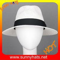 2014 Summer Vented Mesh 100% paper straw Panama Safari Hat white