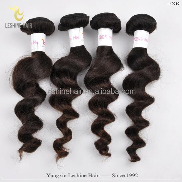 Direto da Fábrica de Doces Lindo Qualidade Dyeable Cabelo Extremidades Grossas extensões de cabelo encaracolado tecer