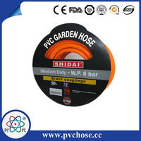 Green Reinforced flexible garden hose with copper joint