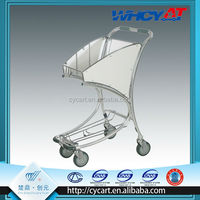 Airport customers 4 Wheel advertising board shopping trolley