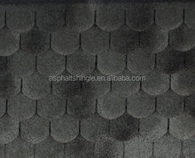 long-lasting recycle colored fishscale round asphalt shingles