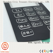 Instrument small button switch control membrane keyboard