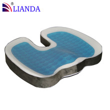 coccyx orthopedic memory foam gel cushion, gel seat cushion, gel wheelchair cushion