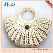 Large Cornhusk Tote w/ Rings Straw Bags for Promotion and Packing