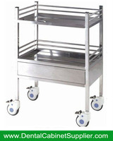 Hot Selling Hospital Furnituer Supply Medical Trolley Stainless Steel Hospital Carts