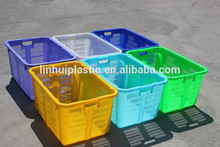 HDPE mesh type food safe fruit containers nestable plastic box