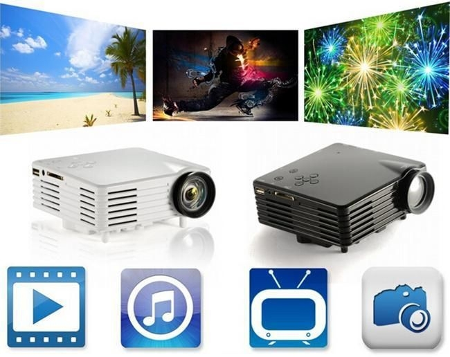 Factory price gp07s portable mini projector with hdmi sd for Handheld projector price