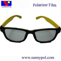 polarized circular plastic frame 3D glasses