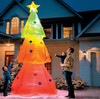 5' led christmas tree yard ourdoor decor colorful inflatable christmas tree