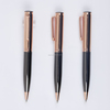 high class Jewel blue and gold metal ball point pens