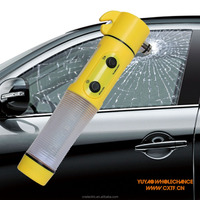 5-in-1 rescue emergency hammer with led flashlight, beacon, emergency hammer and seat belt reamer for car