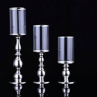 Best selling good quality glass tube candle holder for party
