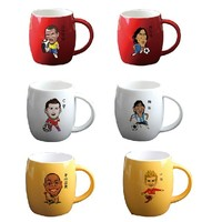2014 Brazil the World Cup Star cartoon promotional trophy gift ceramic coffee mug cup