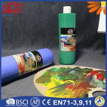 250ml, 500ml profesional de plástico acrílico pintura para pintar