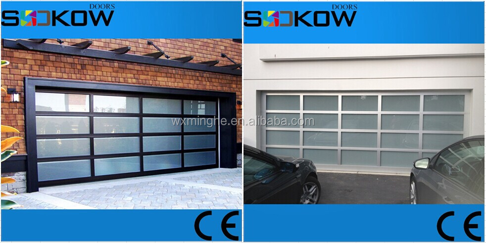 Aluminum Frame Glass Panel Sectional Garage Doormirror Glass Garage