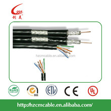 Composite 2RG6 With Cat5e Communication Cable Manufacturer CCTV/CATV/Satellite/Antenna One Conductor RG6 Coaxial Cable 0