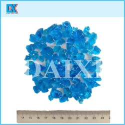 Colored decorative glass chips for waterstone