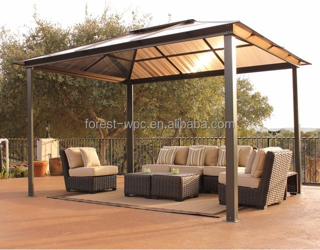 gazebo pavillon 3 x 4 5 pavillon de jardin gazebo wpc. Black Bedroom Furniture Sets. Home Design Ideas