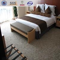 Rainbow, 100% nylon cut pile fireproof floor covering carpet for hotels, waterproof flooring carpet