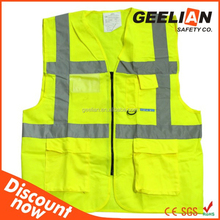 High visibility Reflective vest Safety Vest meet CE ENISO2047:2013 CLASS 2