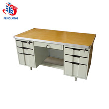 metal frame MDF desk top office table executive desk for office use