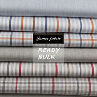 regular soft finish cotton yarn dyed solid stripe and check heather fabric