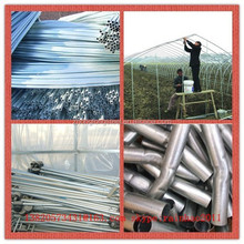 hot dip and pre galvanized steel pipe size for green house and fence post