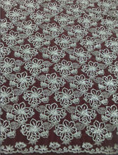 white bridal floral tulle embroidery sequin fabric