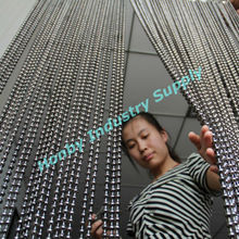 Glossy Surface Silver Color 10mm Hanging Ball Bead String Curtains