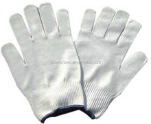 100% white nylon glove with super quality, 10 gauge bleached