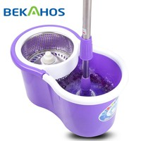 Easy Wet and Dry Cleaning Accessories 2 Devices Bucket System Spin Mop