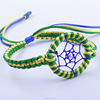 braided green dream catcher bracelet,double color mixed dream catcher jewelry from(SWTPR1535)