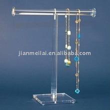 "Countertop acrylic jewelry & bracelet ""T"" shape display stand"