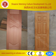 Sliding open type first glass garde new design hdf moulded skin doors