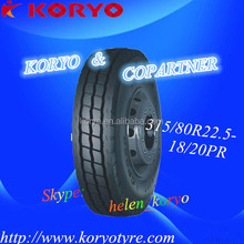 Favorable and long run series all steel radial truck tyre 315/80R22.5