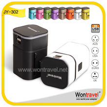 JY- 302 Top travel adapter customized logo promotional gift for cooperation