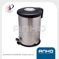 Anho patent pedal and hand push two ways open 20L bin
