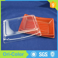 Disposable Plastic Sushi Takeaway Food Container with Sealed Lid