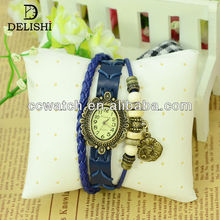 GH-374 2014 new fashion custom cross charms accessories for woman leather bracelet
