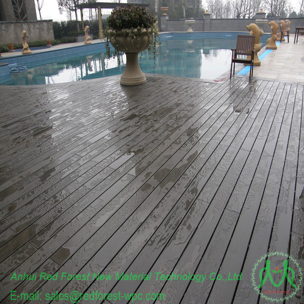 Plank Pool Deck : Outdoor wood plastic composite wpc swimming pool deck