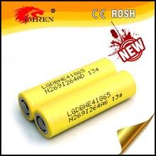 In stock lghe4 18650 battery lg he4 18650 35amp high drain rechargeable battery 3.7v li ion 18650 35amp 2500mah falt batter