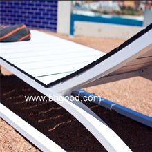 White Outdoor Hpl Laminate, Compact Laminate Sun Loungers