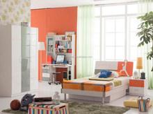 latest design lovely kids bedroom furniture for sale soprts design mdf orange color