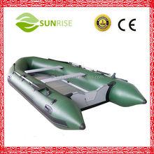 M-360 rígida piso de madeira barco inflável